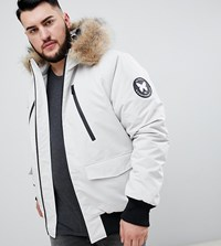 Good For Nothing Parka Jacket In Stone Exclusive To Asos