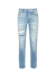 Scotch And Soda 'Ralston' Slim Fit Distressed Jeans Blue