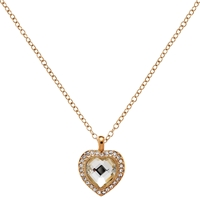 Clare Jordan Gold Plated Crystal Heart Shaped Necklace Gold