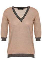 Piazza Sempione Woman Wool And Silk Blend Sweater Neutral