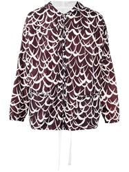 Marni Patterned Lightweight Jacket Brown