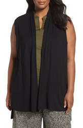 Eileen Fisher Plus Size Women's Lightweight Jersey Vest Black