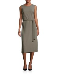 Peserico Belted Midi Dress Taupe