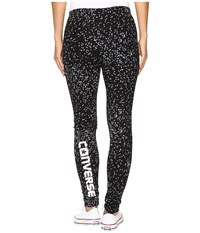 Converse Aop Winter Leggings Black Star Multi Women's Casual Pants