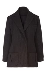 Emilia Wickstead Oversized Tuxedo Jacket Black