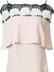 Yigal Azrouel Off Shoulder Top Pink Purple