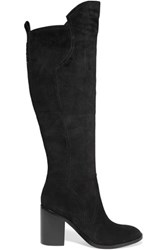 Sigerson Morrison Bambina Suede Knee Boots Black