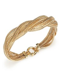 Bloomingdale's 14K Yellow Gold Braided Mesh Bracelet