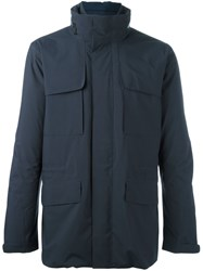 Z Zegna Zip Up Military Jacket Grey