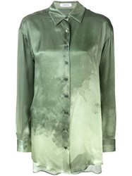 Wunderkind Pointed Collar Shirt Green
