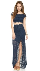 Nightcap Clothing Florence Lace Two Piece Ensemble Navy