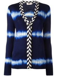 Tory Burch Tie Dye Cardigan Blue