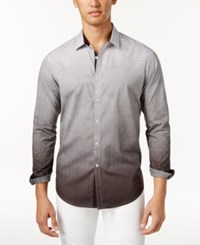 Inc International Concepts Men's Ombre Geometric Pattern Shirt Only At Macy's Black