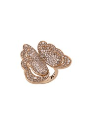 Pasquale Bruni 18Kt Rose Gold Butterfly Diamond Ring