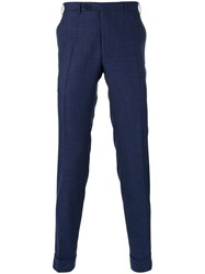 Canali Tailored Trousers Blue