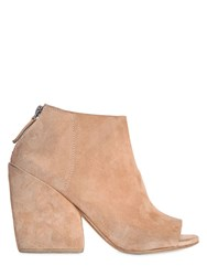 Marsell 95Mm Suede Open Toe Boots