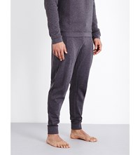 Hugo Boss Contemporary Quilted Cotton Jersey Pyjama Bottoms Black