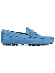 Dolce And Gabbana Textured Loafers Blue