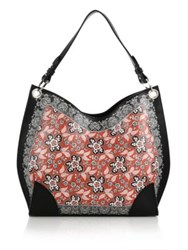 Alexander Mcqueen Legend Small Paisley Leather Hobo Bag