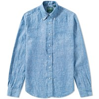 Gitman Brothers Vintage Linen Chambray Shirt Blue