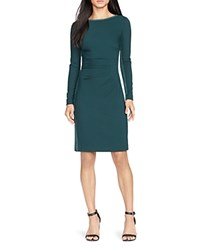 Ralph Lauren Faux Suede Panel Dress Green