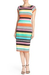 Women's Eci Stripe Pique Midi Sheath Dress
