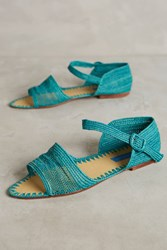 Anthropologie Proud Mary Strappy Sandals Green