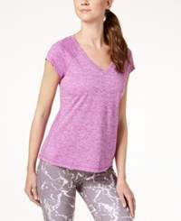 Ideology Rapidry Heathered Performance T Shirt Created For Macy's Purple Cactus