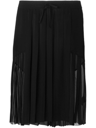 Blk Dnm Pleated Skirt