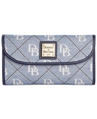 Dooney And Bourke Continental Clutch Wallet Blue