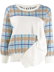 Aalto Check Knitted Jumper Blue