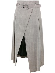Eleventy Wrap Skirt Grey