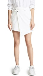 Evidnt Raw Hem Miniskirt White