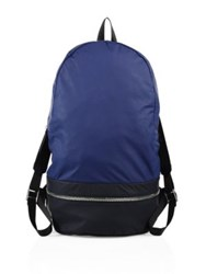 Z Zegna Medium Nylon Gym Backpack Navy