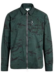 Soulland Thoresen Camouflage Print Shell Jacket Green