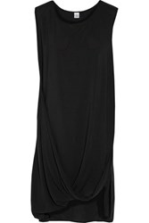 Oak Draped Crepe Dress Black