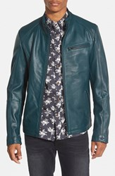 Men's 7 Diamonds 'Norwell' Black Leather Moto Jacket Online Only