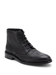 Cole Haan Leather Lace Up Ankle Boots Black