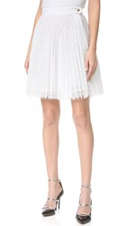 Antonio Berardi Pleated Skirt Bianco Ottico