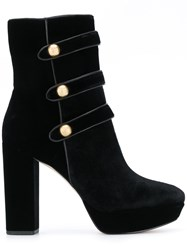 Michael Michael Kors Button Embellished Boots Black