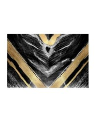Marmont Hill Golden V Painting Print On Wrapped Canvas Black