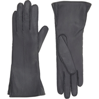 Barneys New York Gusseted Gloves Gray
