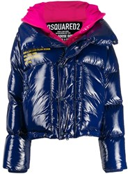 Dsquared2 Layered Puffer Jacket Blue