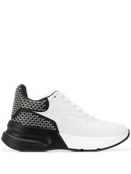 Alexander Mcqueen Patterned Oversized Sneakers White
