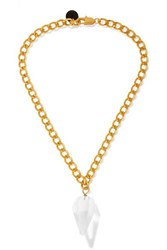 Sirconstance Gold Plated Crystal Necklace One Size