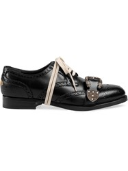 Gucci Queercore Brogue Shoes Calf Leather Black