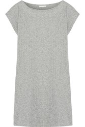 Skin Ribbed Pima Cotton Tunic Gray