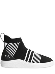 Adno Striped Knit Slip On Mid Top Sneakers