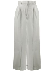 Fendi Cropped Panelled Trousers Grey