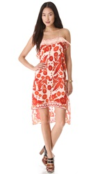 Rebecca Minkoff Yuko Bandana Print Dress Burnt Orange